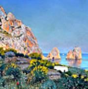 Island Of Capri - Gulf Of Naples Art Print