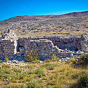 Island Of Krk Old Stone Ruins Art Print