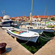 Island Of Prvic Harbor And Waterfront View In Sepurine Village Art Print