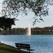 Island Park In Portage Art Print