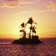 Island Silhouette Art Print