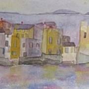 island village in Corsica Art Print