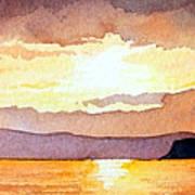 Islay And Cara From Kintyre Scotland Art Print