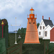 Isle La Motte Vermont Lighthouse Art Print