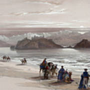 Isle Of Graia Gulf Of Akabah Arabia Petraea Feby 27th 1839 Art Print
