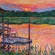 Isle Of Palms Sunset Art Print