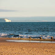 Isle Of Wight As Seen From Bournemouth Beach Art Print