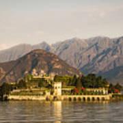 lake Maggiore, Borromean island, Piedmont Italy Art Print