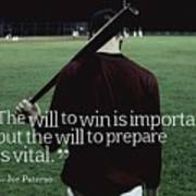 Ispirational Sports Quotes  Joe Paterno Art Print