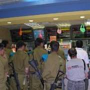 Israeli Soldiers Stop At A Kosher Mcdonald's Art Print