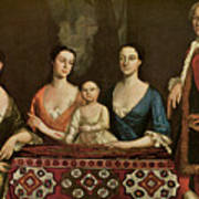 Issac Royall And His Family Art Print by Robert Feke