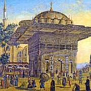 Istanbul Outdoor Bazaar Art Print