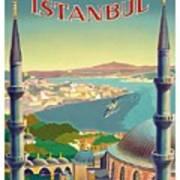 Istanbul Turkey 1939 World Travel Poster Art Print