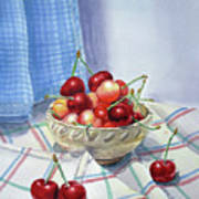 It Is Raining Cherries Art Print