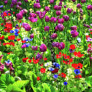 It Takes A Mix To Make A Garden Art Print