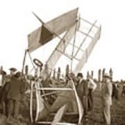 It Was A Good Landing The Pilot Walked Away  Twin Wing Aircraft  Circa 1909 Art Print