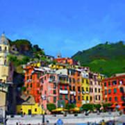 Italian Beachside  Art Print