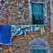 Italian Clothes Dryer Art Print