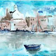 Italian Coast  Art Print by Alexandra-Emily Kokova