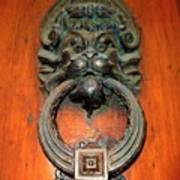 Italian Door Knocker Art Print by Jen White