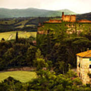 Italian Castle And Landscape Print by Marilyn Hunt