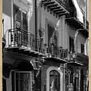 Italian Street In Black And White Art Print by Stefano Senise