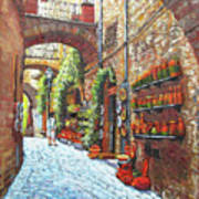 Italian Street Market Art Print