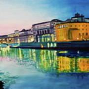 Italian Sunset Print by Terry Honstead