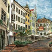 Italian Village 1 Art Print