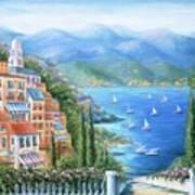 Italian Village By The Sea Art Print