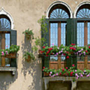 Italian Windows Art Print