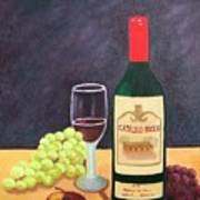 Italian Wine And Fruit Art Print