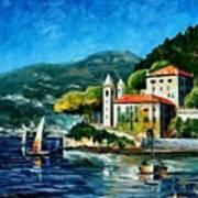 Italy - Lake Como - Villa Balbianello Art Print