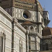 Italy, Florence, Facade Of Duomo Santa Art Print