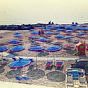 Italy, Sanremo, The Beach. Art Print