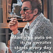 Itchy Sweater Art Print