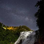 Ithaca Falls By Moonlight Art Print