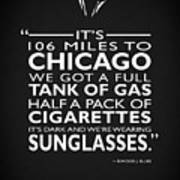 Its 106 Miles To Chicago Art Print