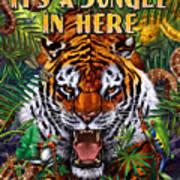 It's A Jungle  Art Print by JQ Licensing