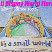 It's A Small World Poster Art Art Print