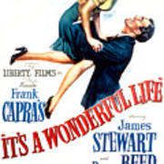 Its A Wonderful Life, Donna Reed, James Art Print