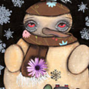 It's Snowing Print by  Abril Andrade Griffith