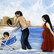 It's Tough In Coney Island Art Print