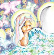 Itzpapalotl Y La Joven Virgin Art Print