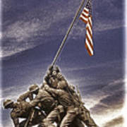 Iwo Jima Flag Raising Art Print