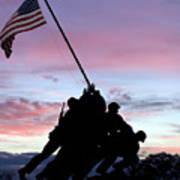 Iwo Jima Memorial In Arlington Virginia Art Print by Brendan Reals