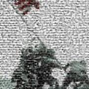 Iwo Jima War Mosaic Art Print