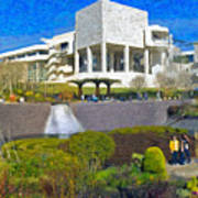 J. Paul Getty Museum Central Garden Panorama Art Print