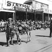 Jack Hendrickson With Pet Burro Number 2 Helldorado Days Parade Tombstone Arizona 1980 Art Print