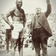 Jack Johnson - Heavyweight Boxing Champion  1908 - 1915 Art Print